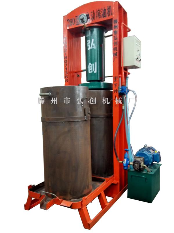 20MPa(70噸)壓力雙桶榨油機