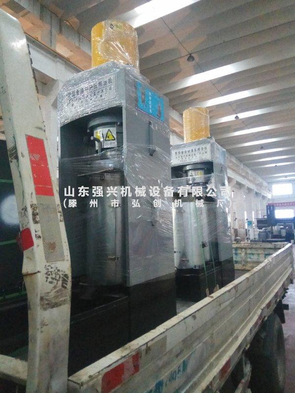 湖北黄石客户第二次订购的全自动液压榨油机已发出