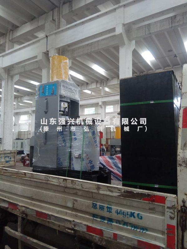 浙江宁波新材料公司订购的双桶全自动新型液压榨油机已发出