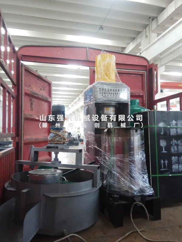 湖南衡阳市客户订购的茶籽榨油设备已发出
