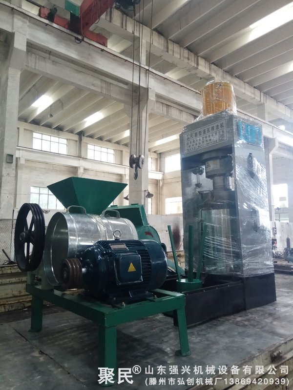 黑龙江省七台河市客户订购的全套大豆新型液压榨油机设备已发出