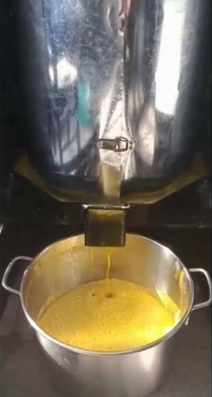 强兴大型立式全自动大豆榨油机压榨大豆油实景