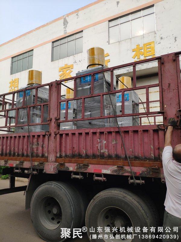 辽宁锦州火麻籽油企业订购的第二批4台新型超高压榨油机已发出