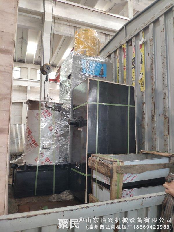 黑龙江牡丹市沙棘果油企业订购的不锈钢沙棘果油压榨机已发出