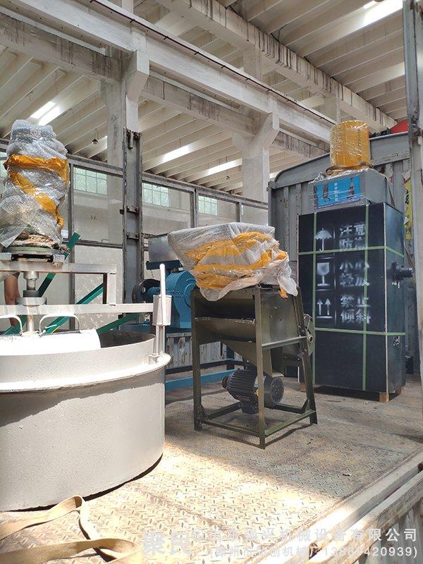 湖南省邵阳市洞口县订购新型液压榨油机全套设备已发出