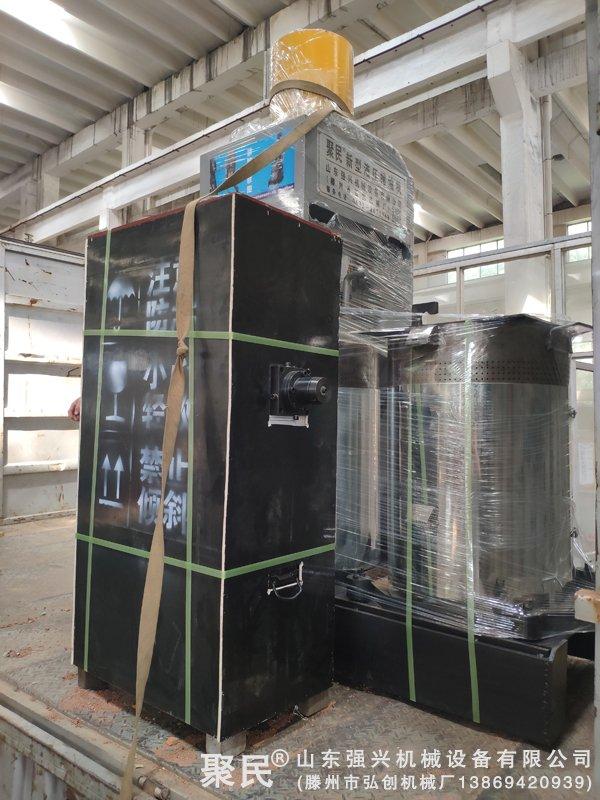 辽宁铁岭市西丰县第二次订购大豆新型双桶液压榨油机