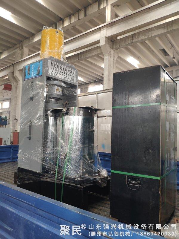 福建宁德古田县订购的双桶茶籽榨油机已出厂